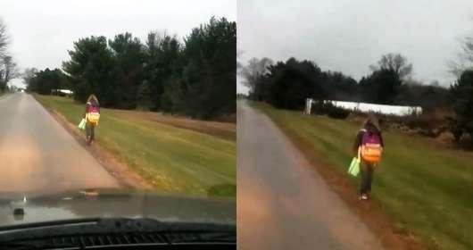 Kazał córce iść 8 km piechotą za karę