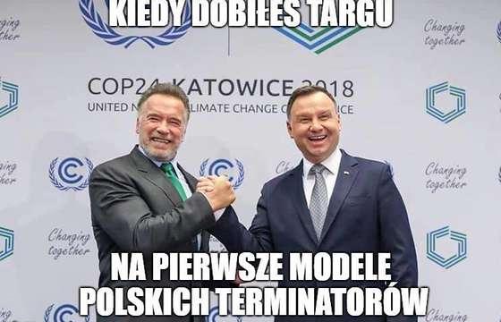 Andrzej Duda spotkał się z Arnoldem Schwarzeneggerem [MEMY]