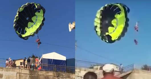 parasailing wypadek