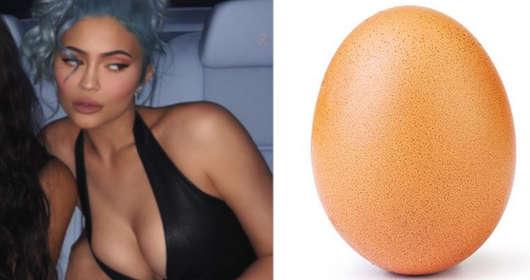 Kylie Jenner i rekord polubień na Instagramie. Jej zdjęcia zostały pokonane przez kurze jajo z world_record_egg.  nie pomogło nawet zabawne wideo