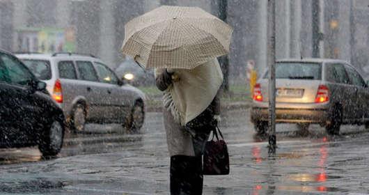 pogoda poniedziałek silny wiatr deszcz