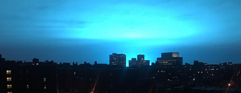 Awaria w elektrowni w USA (Nowy Jork, Queens) - nastąpił wybuch, a na niebie ukazało się niezwykłe zjawisko. To nie były sceny z filmów science fiction