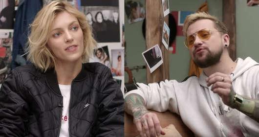 """Anja Rubik, Człowiek Warga i Natalia Trybus (Pink Candy) - seksualna edukacja i masturbacja w ramach sexedPL. Ma to być odniesienie do """"Sex Education"""" Netflixa."""