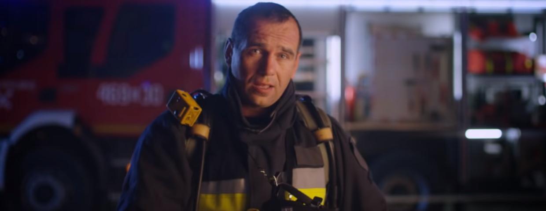 reklama volvo strażacy dziękujemy