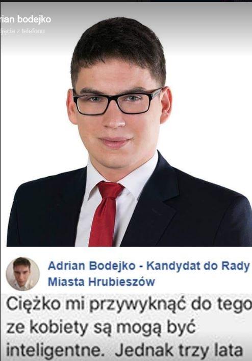 Adrian Bodejko - kandydat bezpartyjny PiS