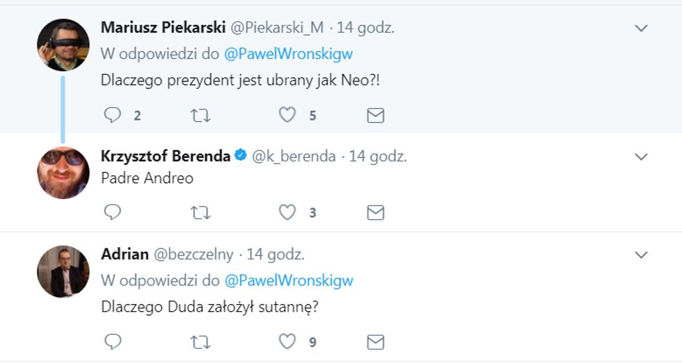 Andrzej Duda w sutannie?