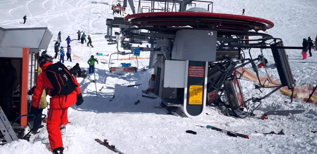 Gudauri Gruzja awaria wyciągu narciarskiego