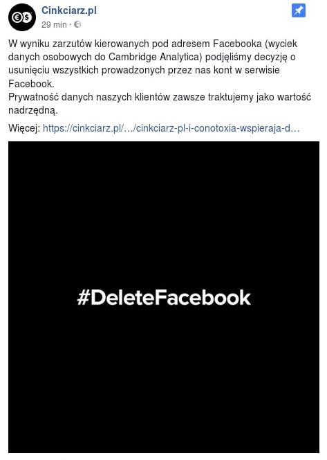 cinkciarz.pl i facebook