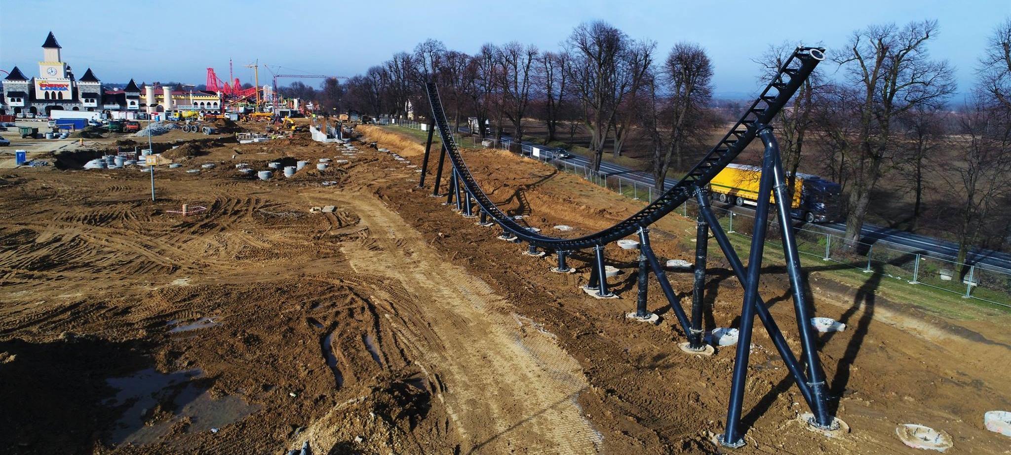 Mega Coaster Hyperion zostanie oddany do użytku w sezonie 2018 na terenie parku Energylandia.