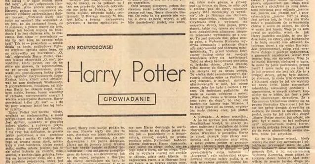 """""""Harry Potter"""" autorstwa Jana Rostworskiego z 1972 roku."""