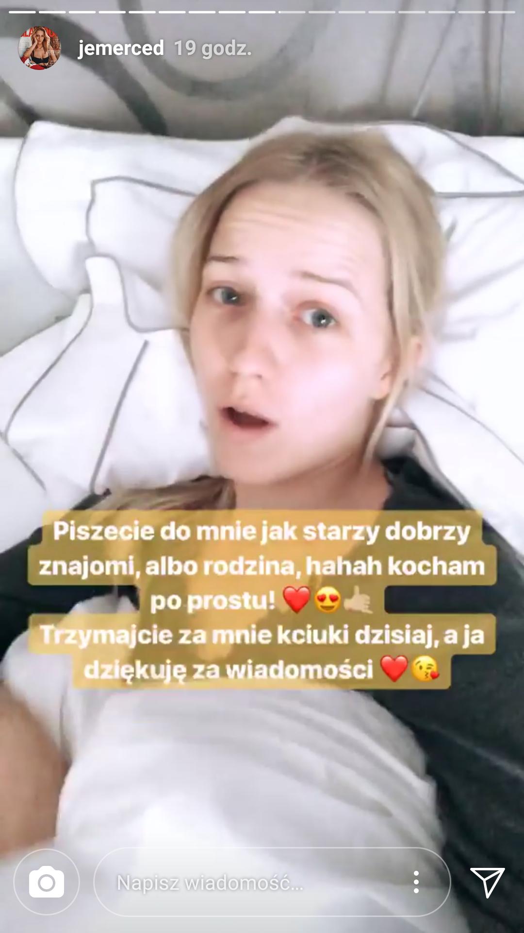 Jessica Mercedes pokazała operację żuchwy na Instagramie