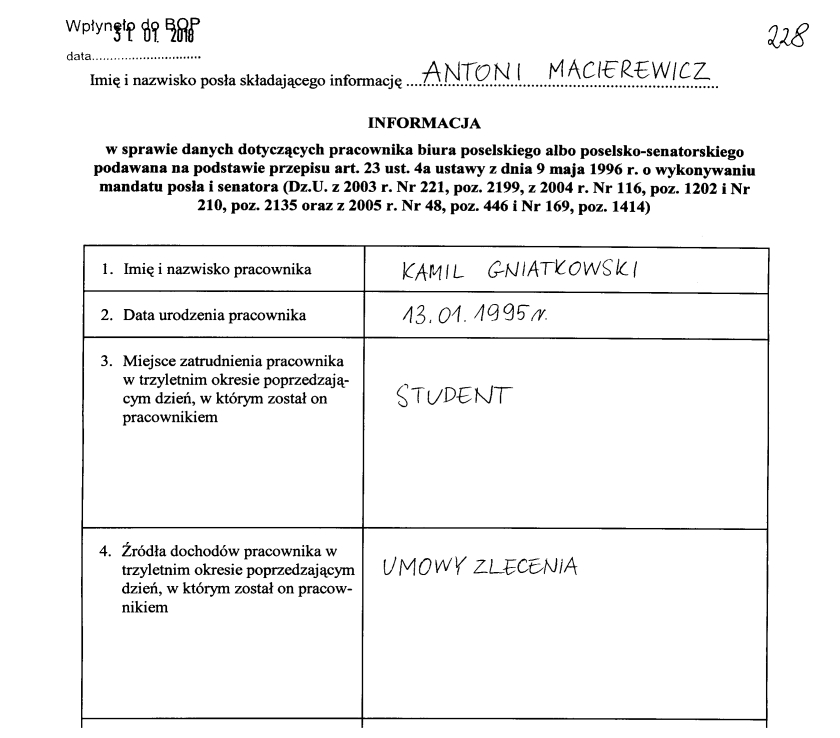Kamil Gniatkowski nowym współpracownikiem Antoniego Macierewicza
