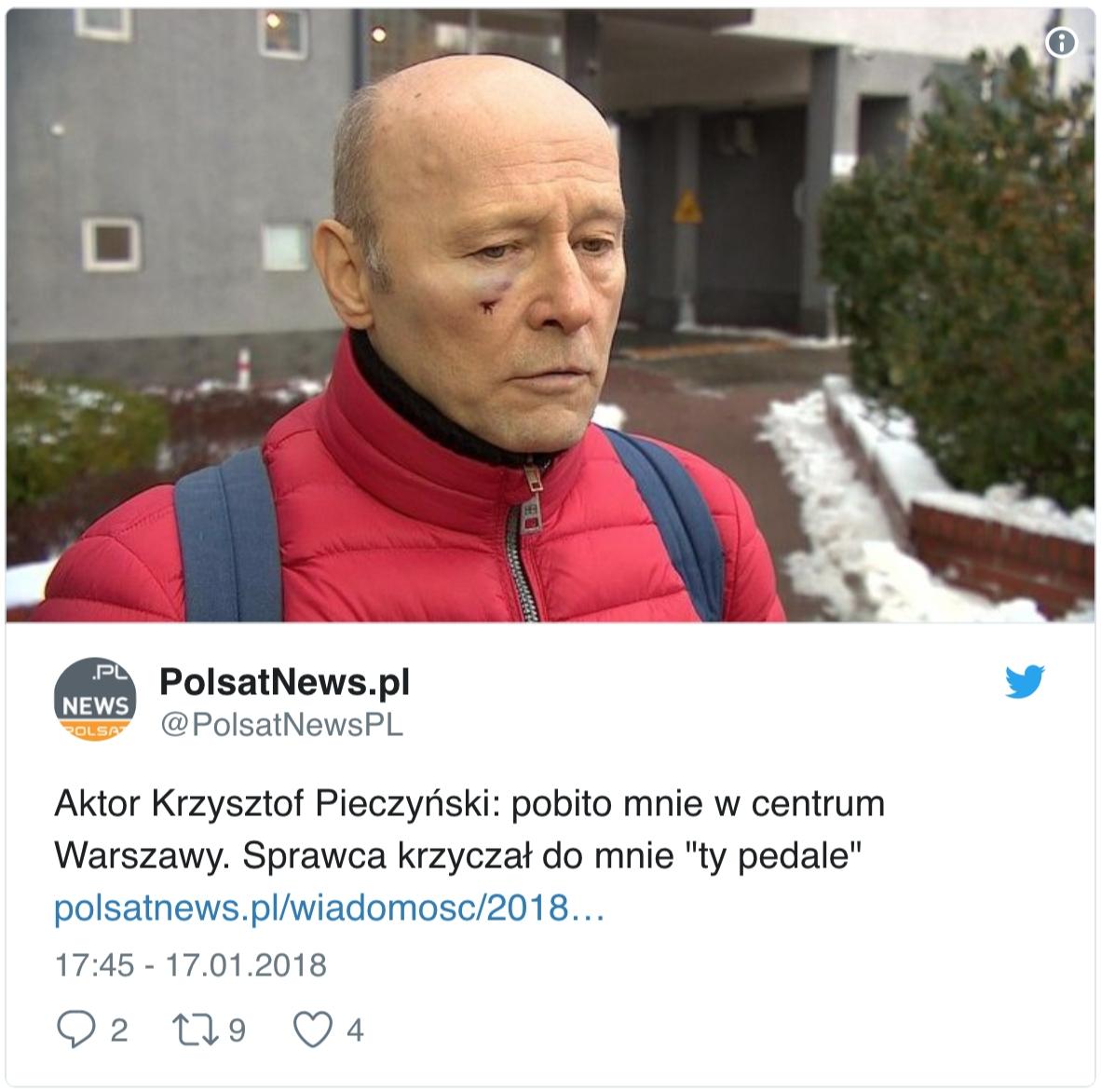 Krzysztof Pieczyński pobity