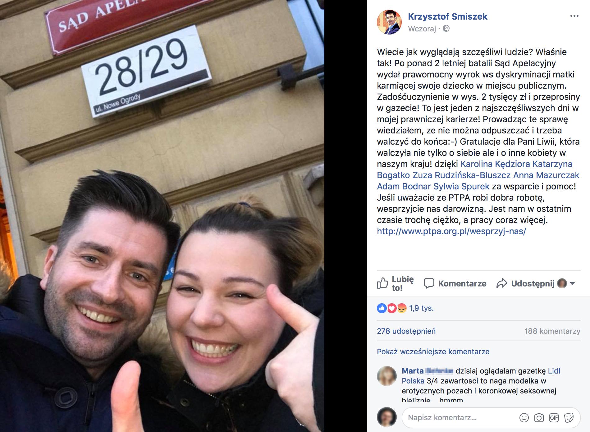 Krzysztof Smiszek Facebook