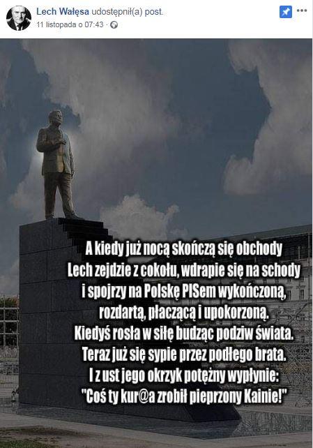 Lech Wałęsa i szokujący mem