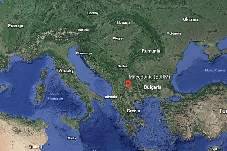 macedonia europa mapa Grecja