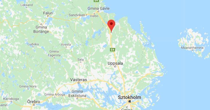 mapa Szwecja