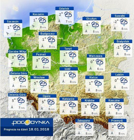 Atak zimy w Polsce