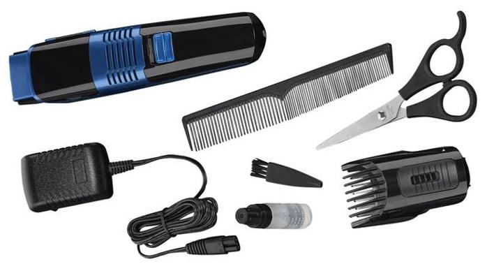 Maszynka do strzyżenia włosów i brody z komorą próżniową marki Silvercrest.