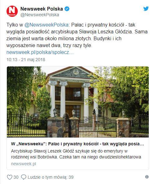 newsweek Sławoj Głódź