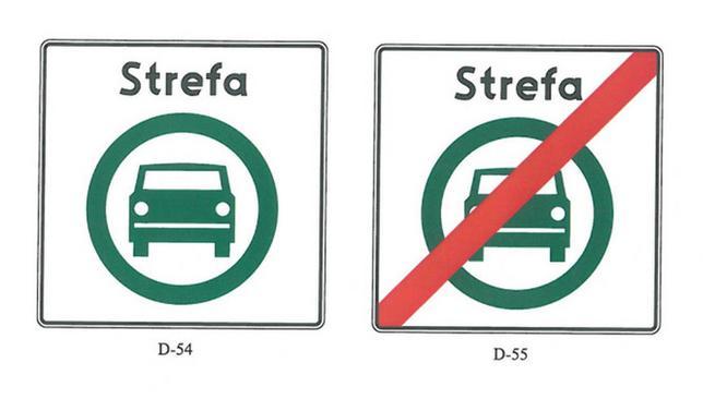nowy znak drogowy w Polsce D 54