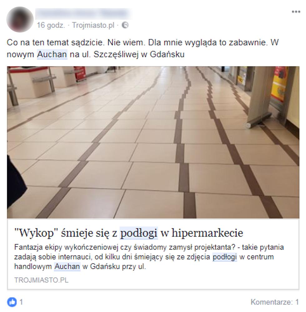 """Podłoga w Auchan hitem sieci. """"Styl pijanego mistrza"""""""