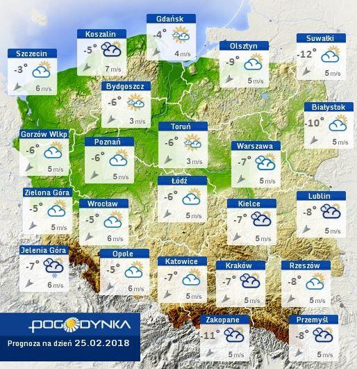 Powrót zimy wPolsce 2018
