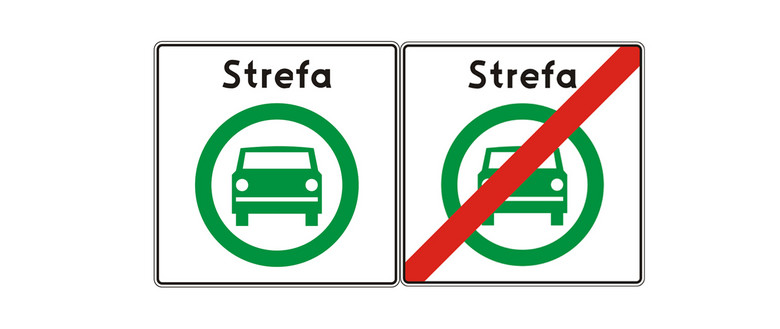 strefy czystego transportu mandaty znaki drogowe ministerstwo infrastruktury