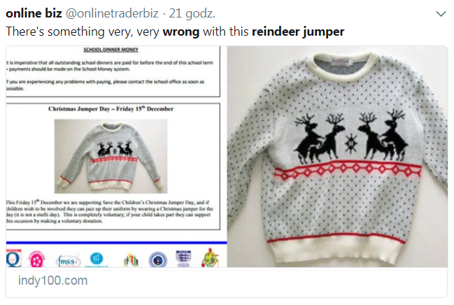 sweterek z reniferami