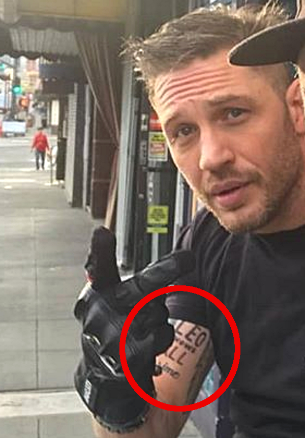 Tatuaż Toma Hardy'ego