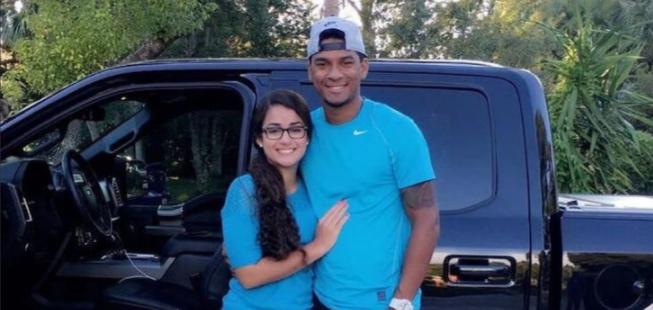 Danry Vasquez z dziewczyną w sierpniu 2016 roku.