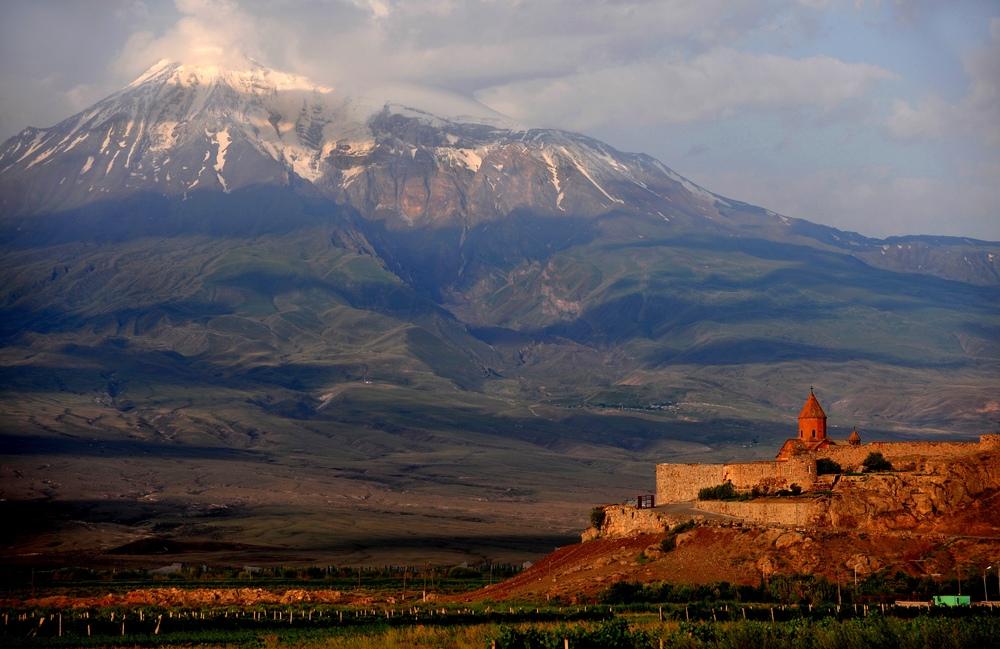 widok na górę Ararat