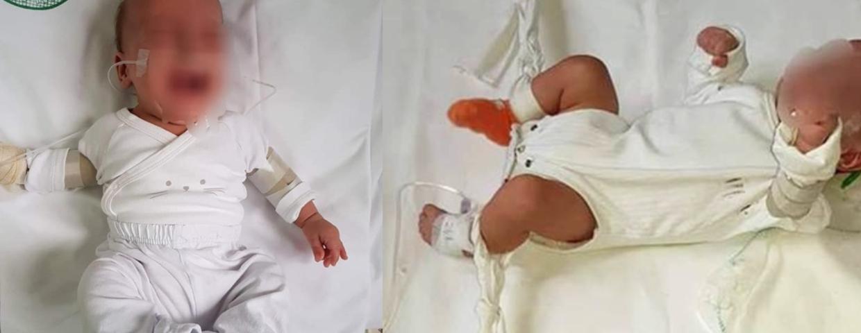 pielęgniarka przywiązała dziecko do łóżeczka